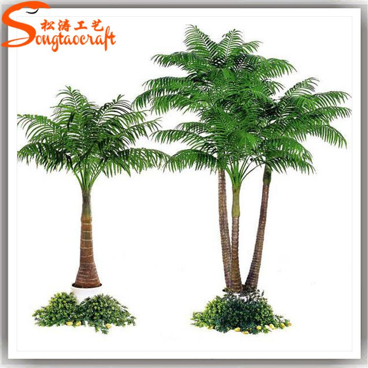松涛直销仿真槟榔树 室内绿色环保装饰假槟榔树 户外观景槟榔树