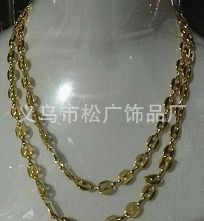 现货合金8字形腰链日韩式环保金属片金色项链腰链混用型服饰配件