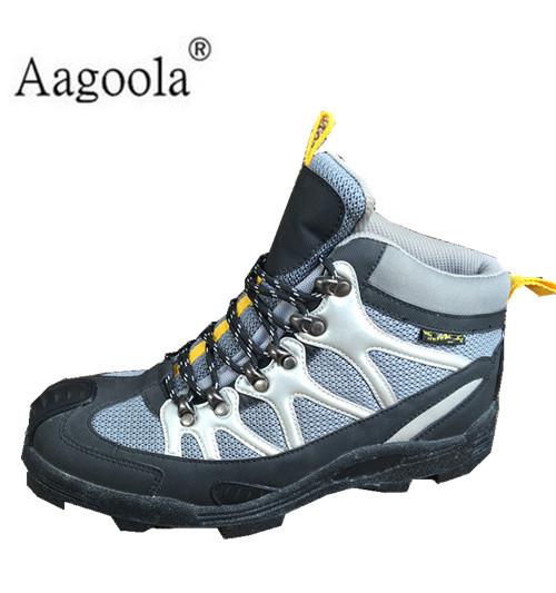矶钓靴钓鱼鞋钉底防滑 登礁中高帮登山鞋渔具
