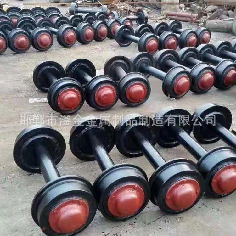 厂家供应空心矿车轮对 实心矿车轮对 矿车轮及其配件 国标铸钢矿车轮对