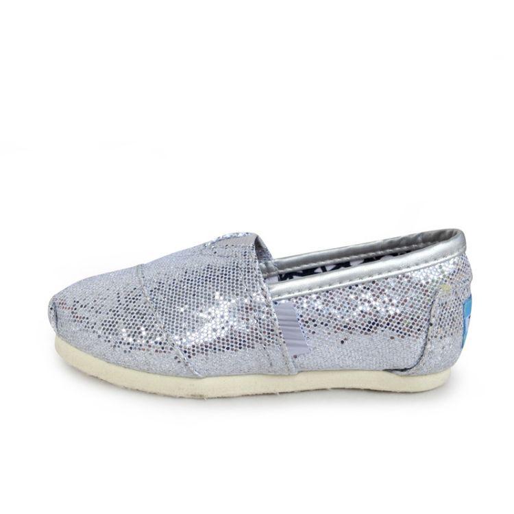 托马斯外贸原单懒人鞋低帮帆布鞋休闲平底童鞋纯色汤姆斯一件代发