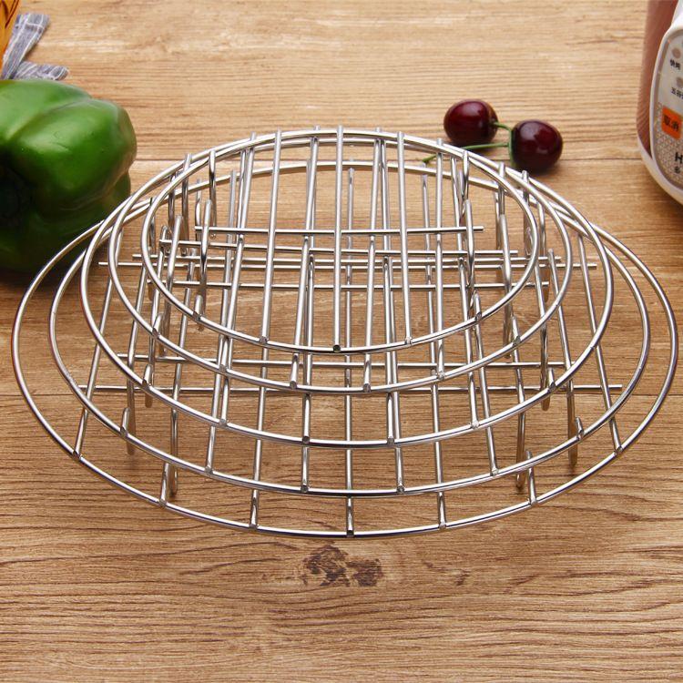 不锈钢蒸盘蒸片圆形家用蒸格蒸屉厨房篦子蒸包子高脚蒸笼隔水蒸架