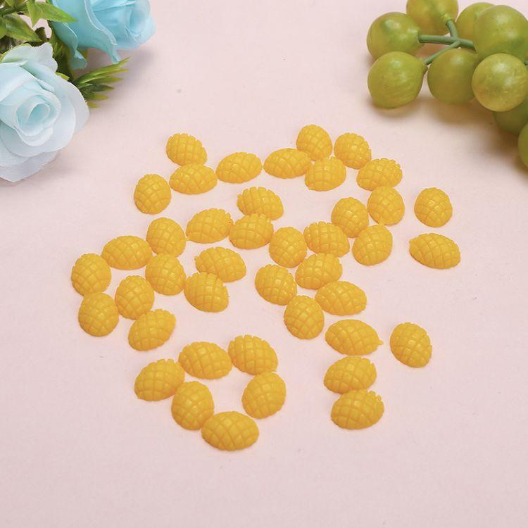 厂家直销仿真食品水果半个菠萝片食玩厨柜装饰摆设模型摄影道具