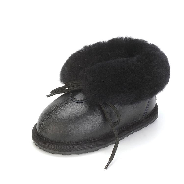 冬季新款儿童皮毛一体雪地靴男女宝宝鞋婴儿鞋保暖防滑学步靴特价