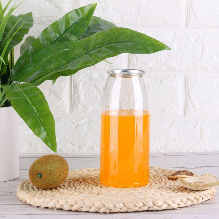 厂家供应 高透明塑料PET汽水瓶 可乐碳酸饮料易拉罐果汁罐