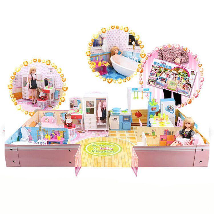 乐吉儿梦幻温馨家园娃娃套装大礼盒玩具H23A