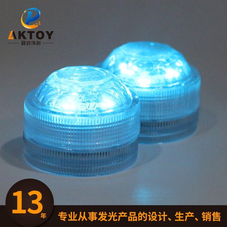 新款钻石发光蓝灯LED防水蜡烛灯 水下浴缸灯鱼缸led潜水灯批发