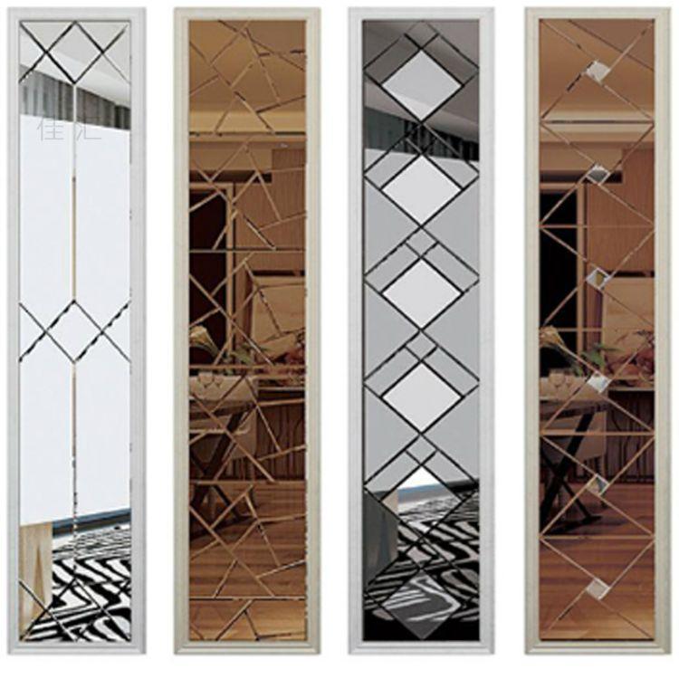 厂家专业定制艺术玻璃背景墙  拼镜玻璃背景墙