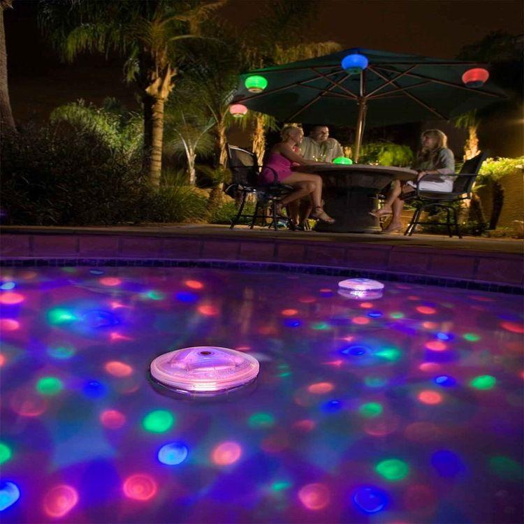 游泳池灯 LED宝宝洗澡浴缸灯 户外水上漂浮灯  现货