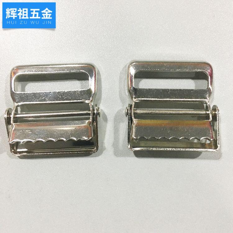 【新品上市】40mm皮带扣 金属夹多齿扣 服饰织带夹配件 厂家直销