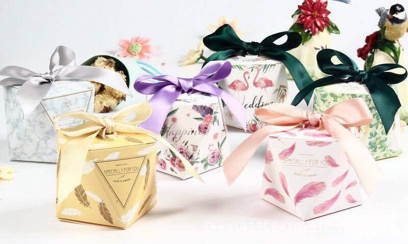 欧式喜糖盒 钻石森系彩印火烈鸟喜创意礼品喜糖盒批发 舒家良品厂家