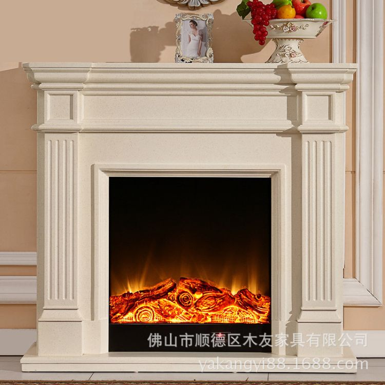 欧式实木1.2米壁炉 取暖电壁炉整装 壁炉led仿真火焰装饰壁炉