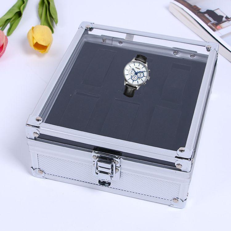 新款高端时尚大容量手表展示箱定制创意手表箱铝质收纳盒厂家直销