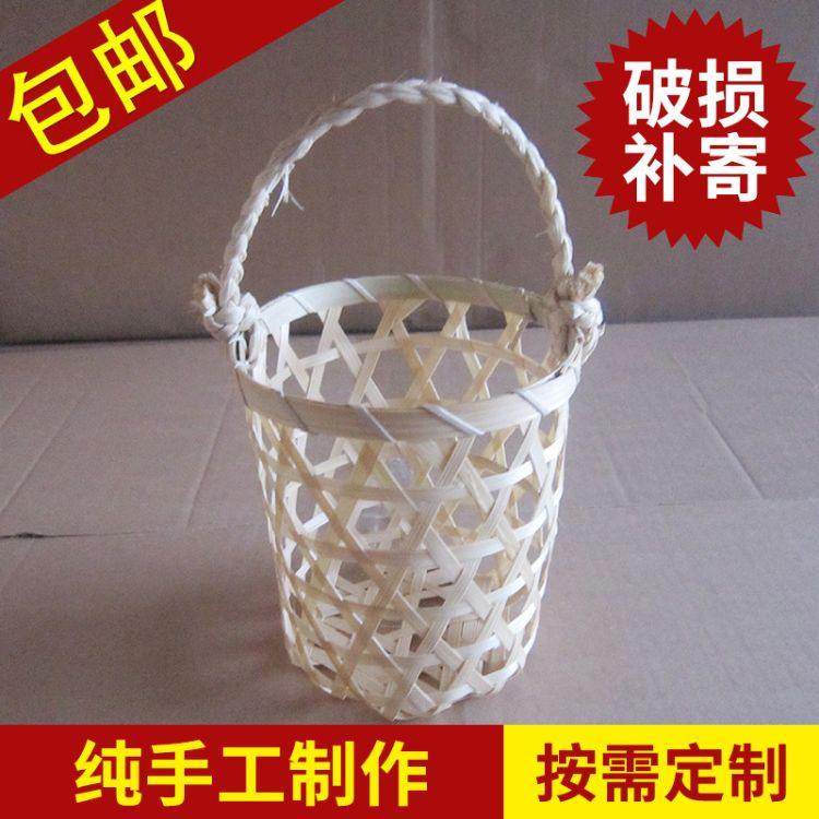 一强 手工编织手提篮 水果篮批发 创意家居用品 时尚家居摆件 竹制品