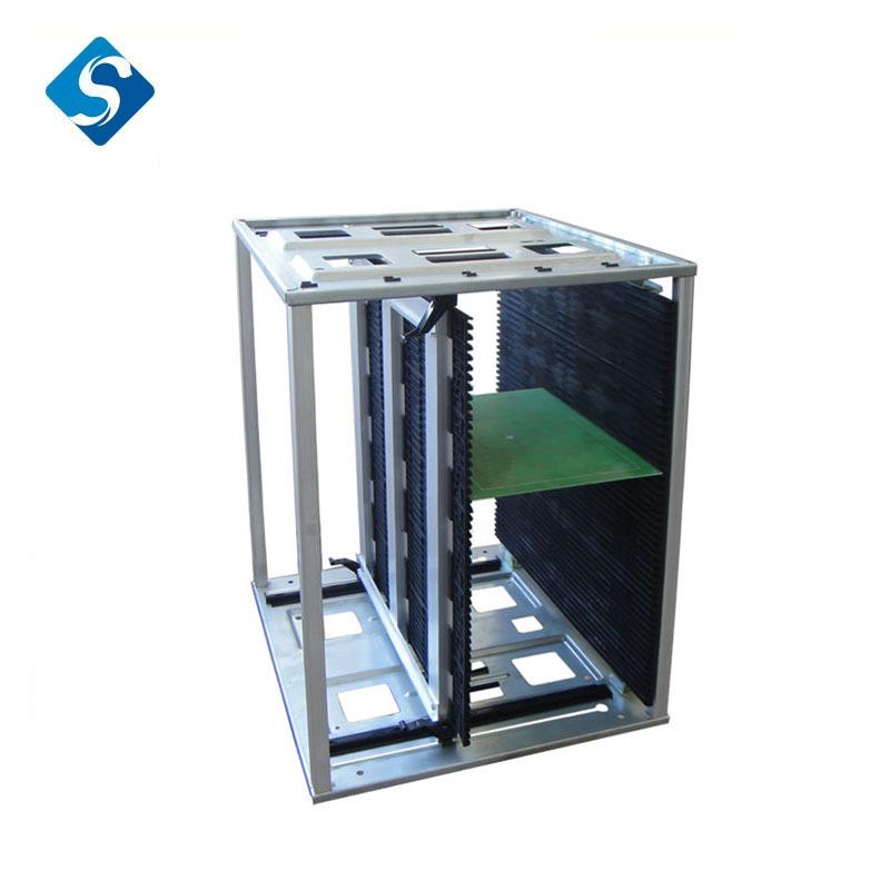 厂家直销7061 高品质普通/耐高温SMT防静电上下料架 SMT静电筐