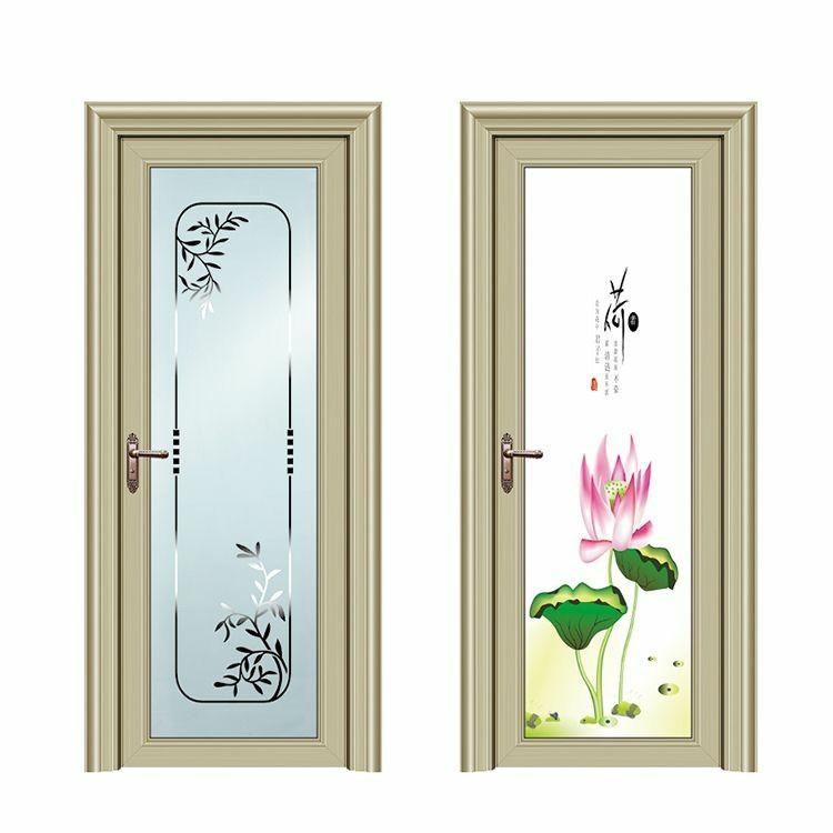 定做优质铝合金平开门 采购整套卫生间铝门 批发双层钢化玻璃铝门
