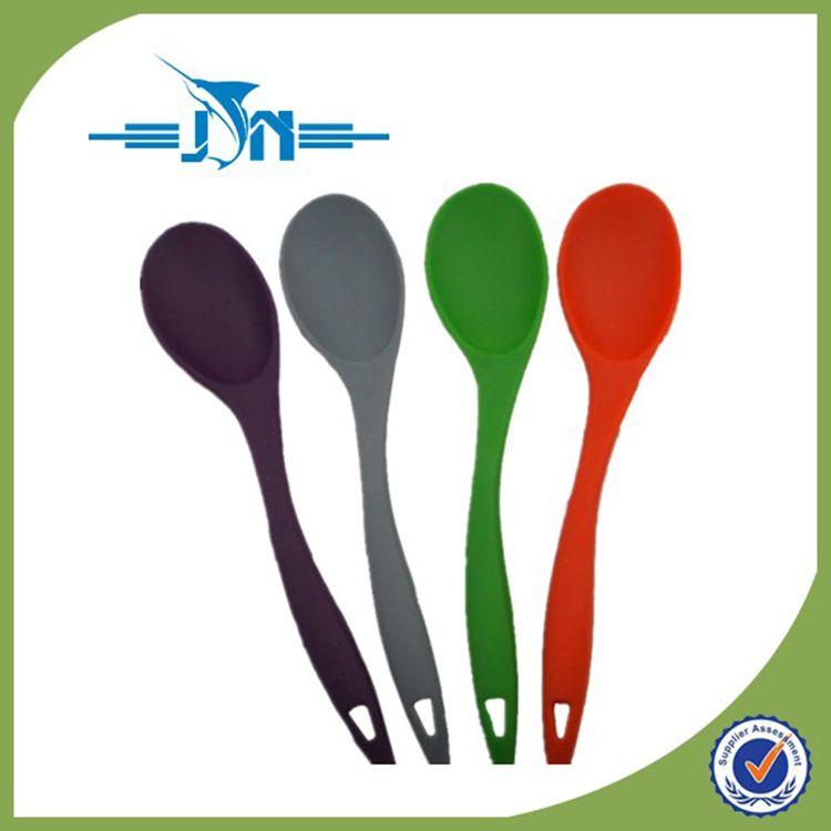 厂家直销 食品级硅胶勺子 厨房多用饭勺汤勺 环保耐高温硅胶勺