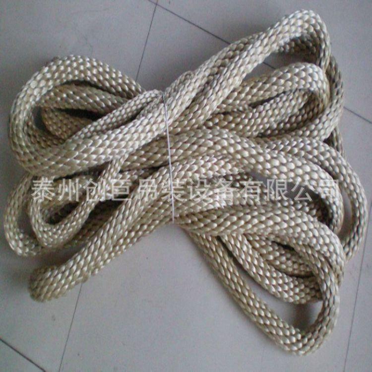 高强芳纶吊绳30t8m 环形锦纶吊绳25t8m 双扣吊装绳