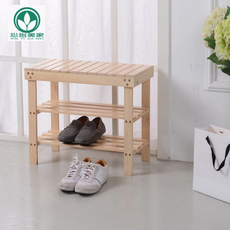 简易实木换鞋凳多功能玄关鞋柜创意家居鞋架收纳储物凳 厂家批发