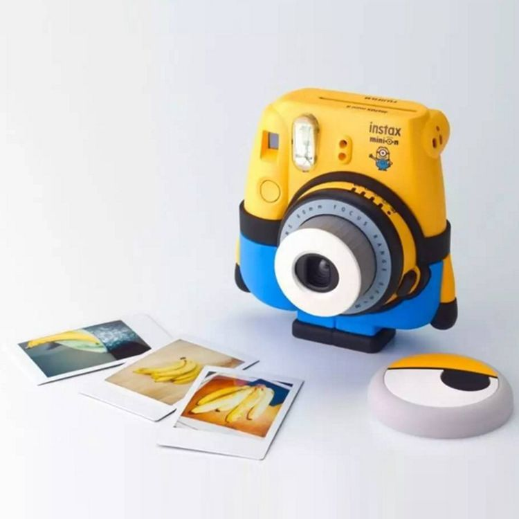 富士拍立得一次成像相机MINI8 限量版 立拍得 小黄人正品