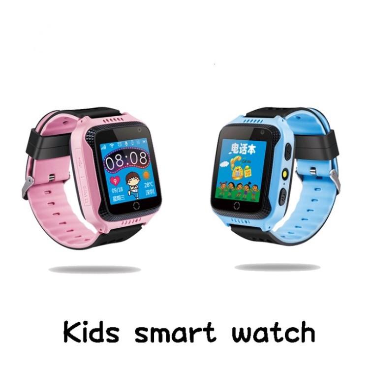 新款GPS定位触摸拍照手电筒儿童定位电话手表外贸爆款工厂直销
