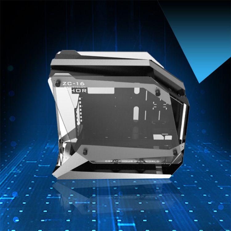 炽果(ZEAGINAL)ZC-16 银黑钢化玻璃双侧透全铝风冷水冷游戏机箱