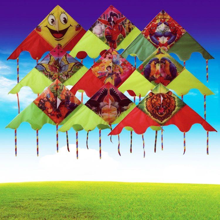 潍坊风筝批发 多规格五尾风筝 卡通儿童玩具风筝 厂家直销定做