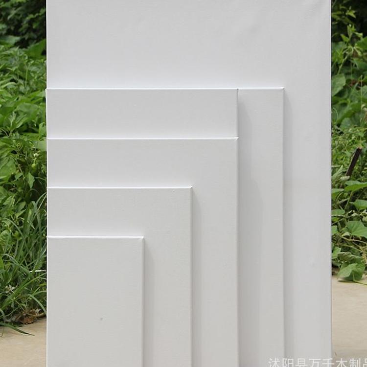 万千油画框长方形油画棉布油画板画布 美术练习用品批发 规格全