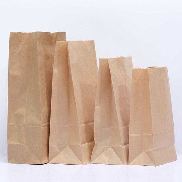 现货进口牛皮纸袋 食品包装袋 防油袋一次性外卖打包袋定制印刷