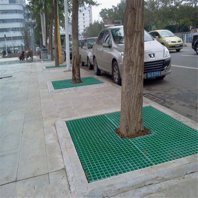 厂家直销树池篦子树池格栅树坑专用绿化专用25厚玻璃钢格栅现货