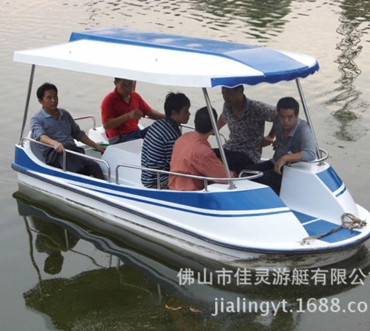 6人新款脚踏船 玻璃钢 水上游乐 大量现货