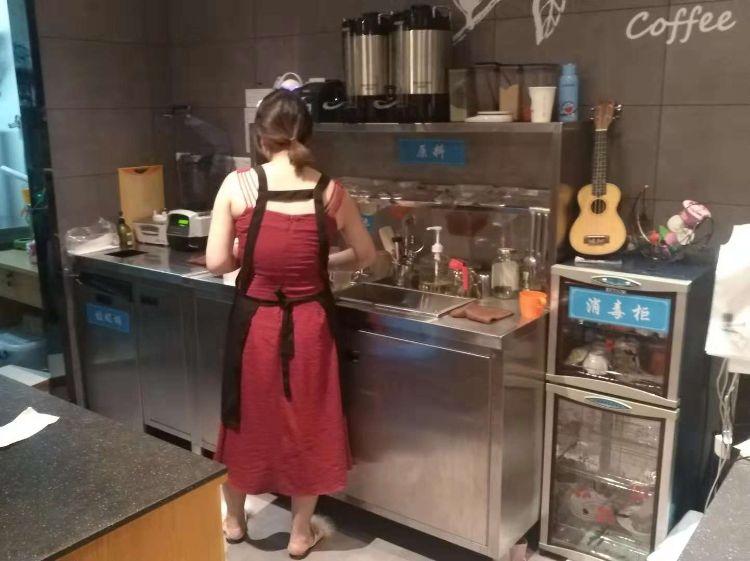厂家直销可定制咖啡店奶茶店休闲吧水吧台操作台老塞瑞幸咖啡同款
