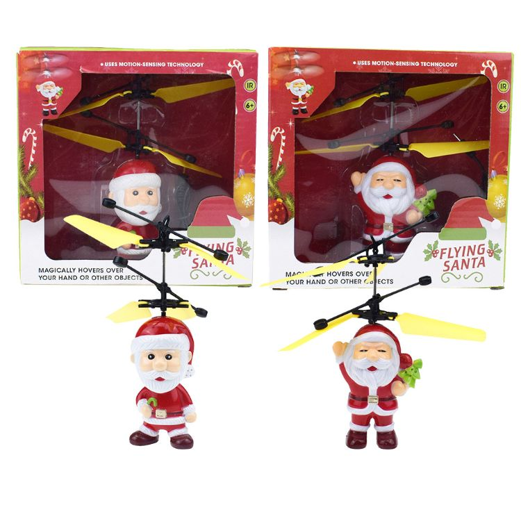 新奇特圣诞老人感应飞行器玩具圣诞节热卖玩具儿童礼物跨境货源