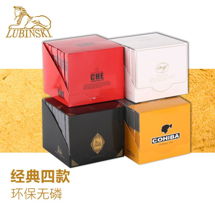 COHIBA雪茄专用火柴进口香帕木火柴古巴雪茄火柴雪松木醇香24小盒