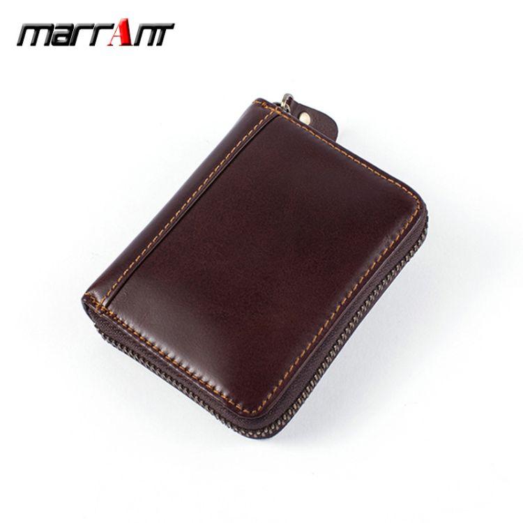 一件代发欧美复古男士卡包卡夹商务拉链多卡位零钱包银行卡包批发