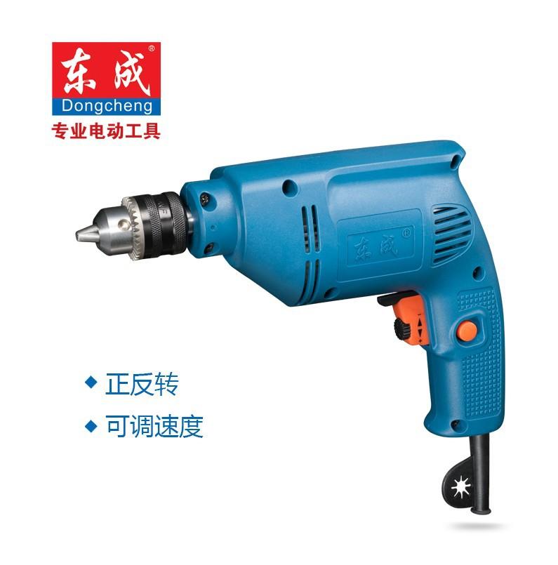 东成电动工具 手电钻J1Z-FF-10A 家用手枪钻 正反转可调速电钻