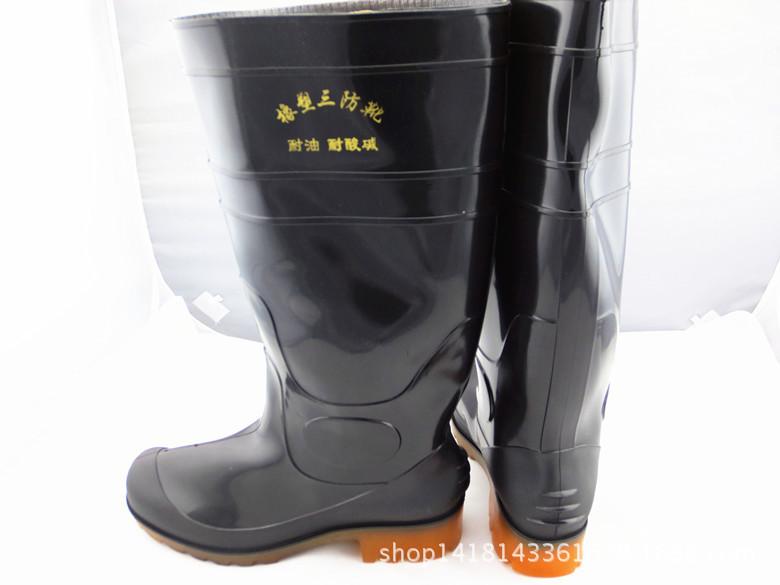 厂家直销 耐酸碱耐油 高帮工作雨水鞋胶靴牛筋底劳保鞋 量大优惠