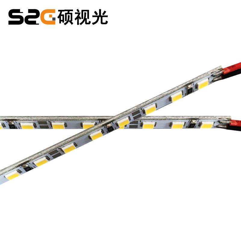 3014硬灯条 60灯 5V灯带 3mm窄板 USB灯座用 高显高亮 室内灯具