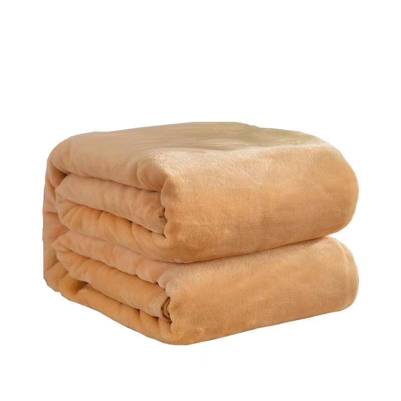 正品冥思静坐休息电视机沙发毯瑜伽毯子铺巾纯色法兰绒艾扬格毯子