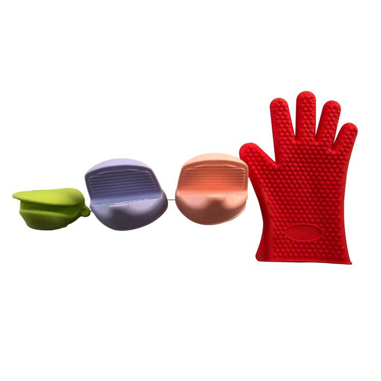 加厚微波炉烤箱专用隔热手套防滑厨房烘培耐高温防烫硅胶厨房工具