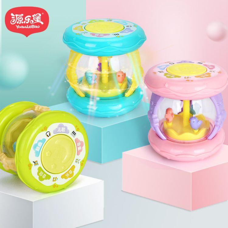澄海玩具儿童益智玩具批发 宝宝手拍鼓儿童拍拍鼓音乐旋转手拍鼓