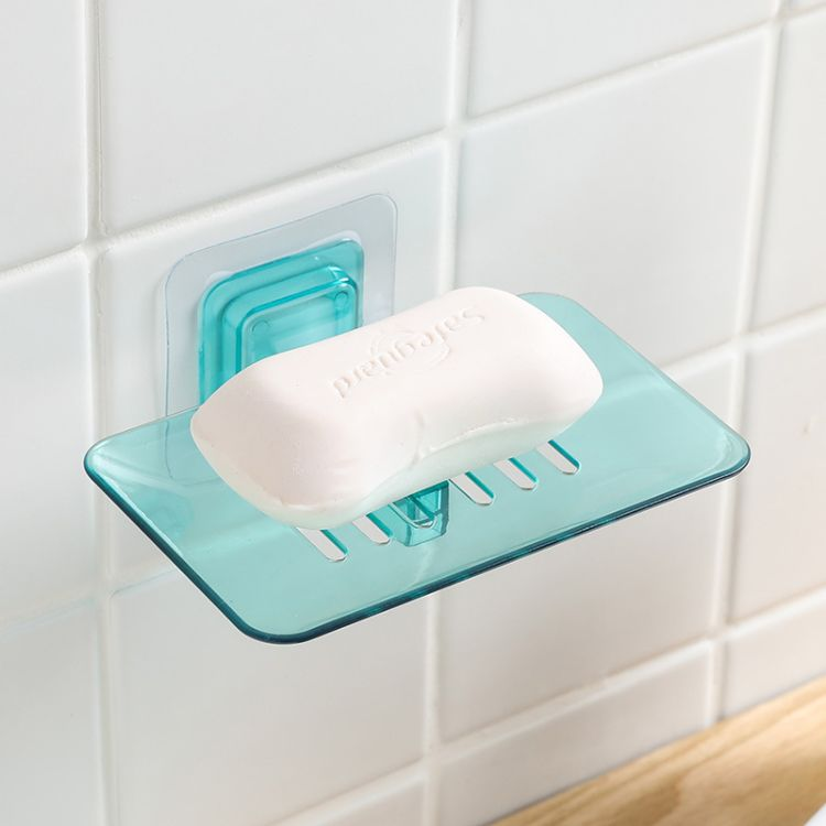 创意炫彩壁挂水晶皂盒卫生间吸壁式肥皂架沥水篮香皂盒浴室肥皂盒