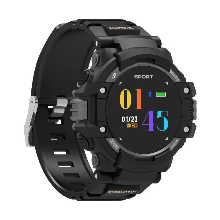 新款F7彩屏智能手环心率温度海拔指南针GPS定位运动轨迹防水手表