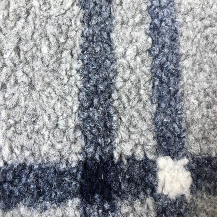 提花羊羔绒   含羊毛羊羔毛面料  女装秋冬大衣面料
