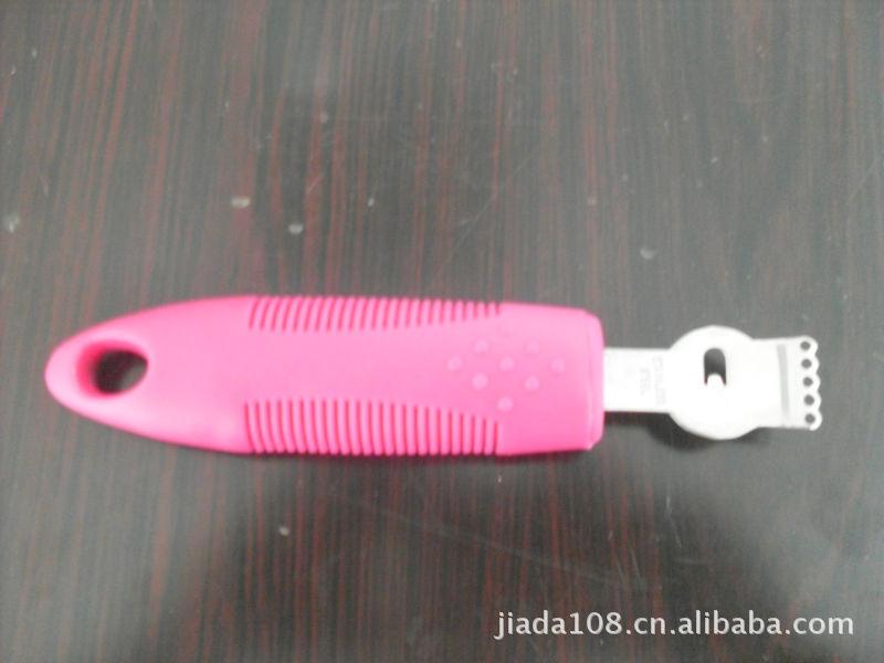 供应彩色橄榄套软形手感手柄/圆形笑面柠檬刨,符合国际测试标准.
