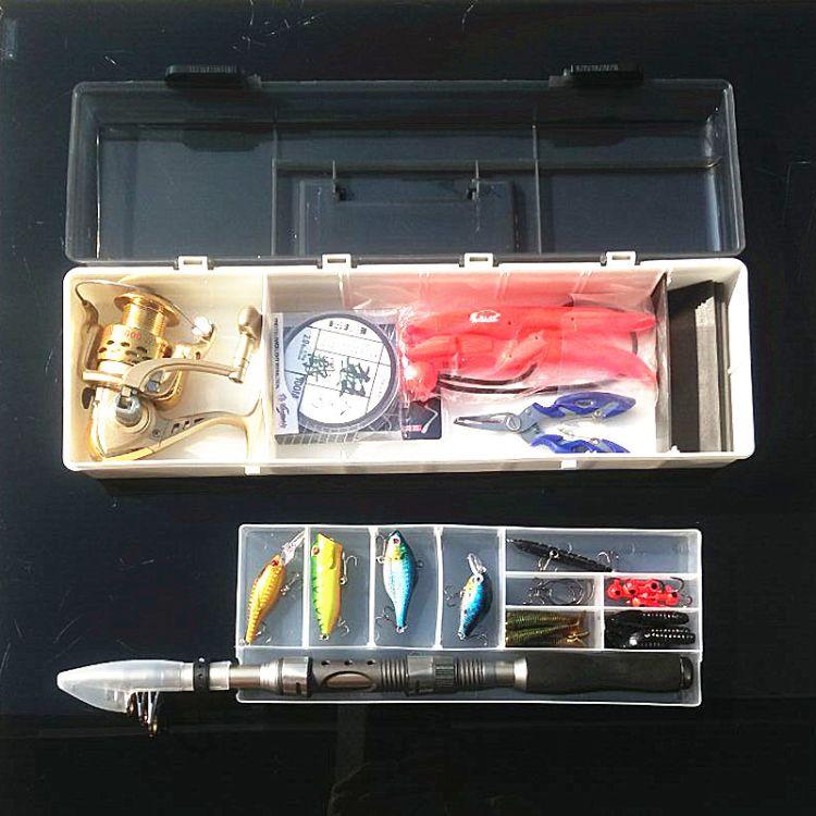 爱路亚渔具 海钓路亚套装 便携手提渔具盒钓鱼用品船钓装备钓箱