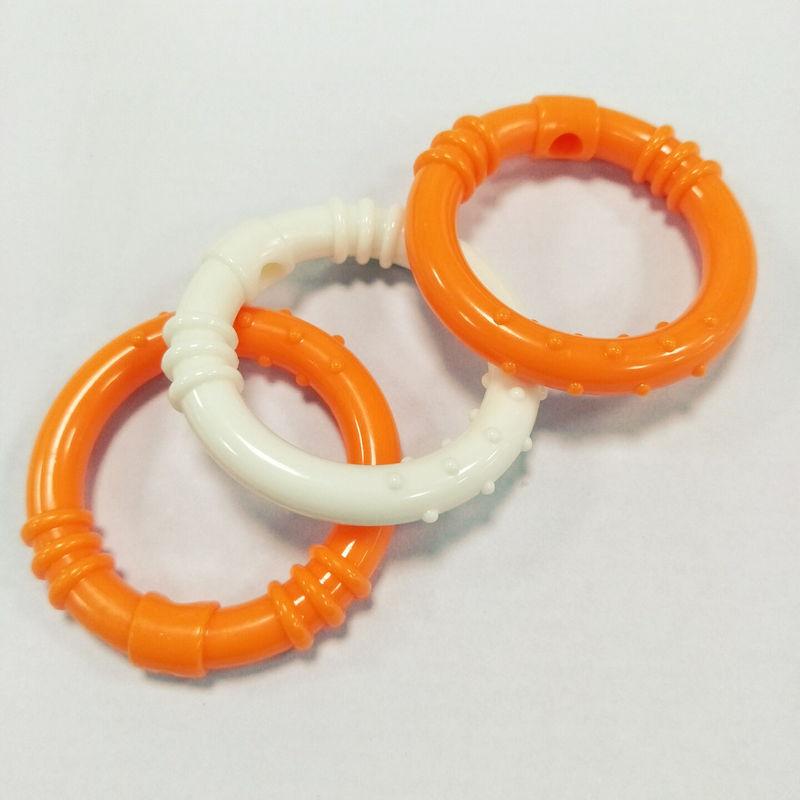 圣恩 彩色小型圆环塑料玩具 婴儿胶圈玩具配件