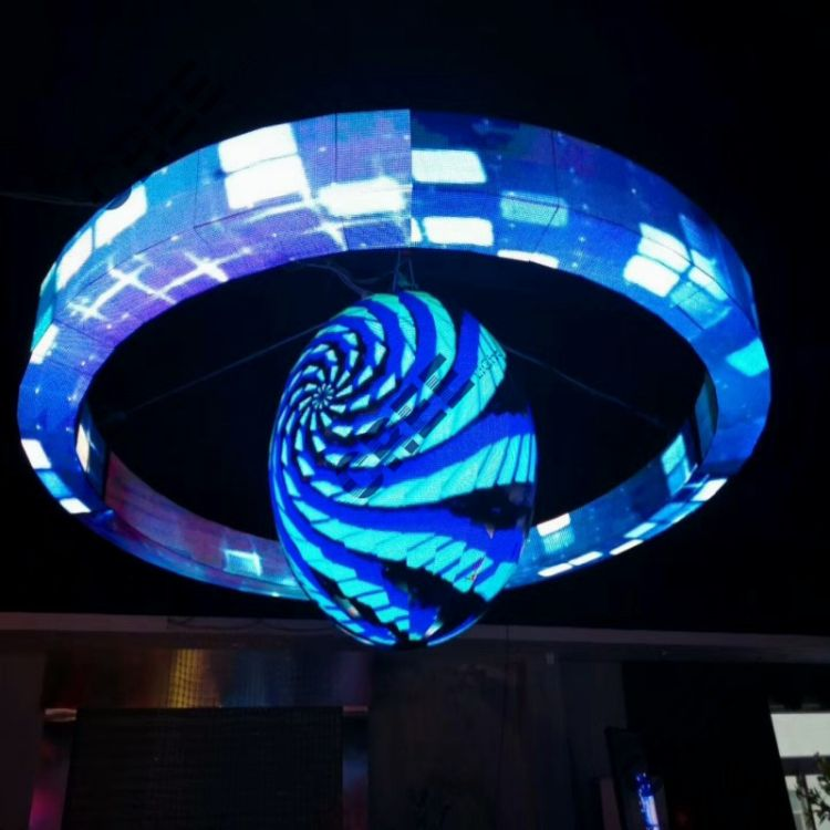 led显示屏柔性屏家酒店舞台柱子可弯曲led异型屏厂家直销可定制