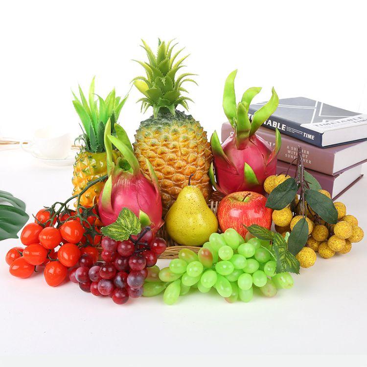 惠丽 仿真水果模型摆件假水果套装 仿真香蕉串苹果摆件装饰早教道具