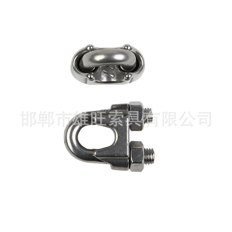 索具厂家批量供应 DZ-003 重型玛钢卡头 白铁强度索具卡头
